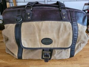 Vintage Canvas & Leather Fossil Large Holdall