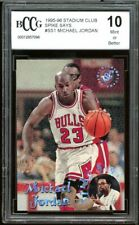 1995-96 Stadium Club Spike Says #ss1 Michael Jordan Card BGS BCCG 10 Mint+