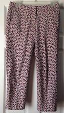 Boden Women's Navy & Red Dot Cropped Pants Sz UK8 US4 Petite