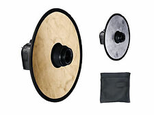 "12""/30cm Circular Portable Lens-Mount On Camera Collapsible Reflector Diffuser"