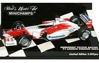 MINICHAMPS 400 020174, 400 030172 TOYOTA F1 Show / Launch car 2002 / 2003 1:43rd