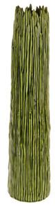 52cm Tall Botanica Green Ceramic Flower Vase Unique Rippled Design
