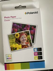 Polaroid Photo Paper 6x4 ins 220gsm 50 Sheets Bright White Glossy Content Sealed