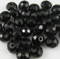 NEW Jewelry Faceted 100 pcs Black #5040 3x4mm Roundelle Crystal Beads DIY !!!