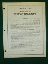 "Western Tool 22"" Rotary Power Mower Parts Manual 12220000"