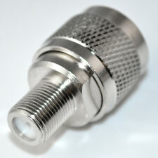 N type male plug to F female jack straight RF Coaxial adapter connector Convert