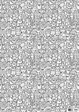 Jon Burgerman Burgerdoodles Colour-in Wrapping Paper