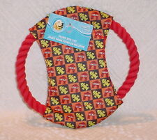 DOG ROPE *FIRE HYDRANT PLUSH/SQUEAKER * GREAT DOG TOY * 7 INCHES TALL