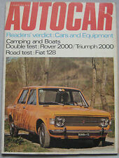 Autocar magazine 5 March 1970 featuring Fiat 128 road test, Rover P6, Triumph