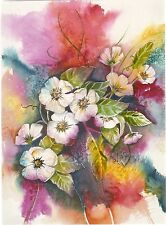 """Blank Notecard - """"Untitled"""" Florals - art by Rebecca Kennedy!"""