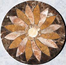 """28"""" Floor Marble Travertine Tile Medallion Design Stone 28 #37"""