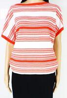 Lauren By Ralph Lauren Womens Top Bright Orange Size XL Knit Boat-Neck $99 176