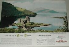 1957 Pan Am airlines ad, 2 page, color, Castle