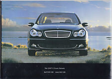 2007 Mercedes-Benz C-Class Promotional Catalog Brochure in Very Good Condition