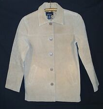 Moda International Womens 100% Suede Leather Jacket Size Lined Small Petite