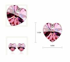 Butterfly Fastening Heart Alloy Costume Earrings