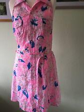 Sommer Kleid von Diesel, Gr. S, Baumwolle, rosa/blau/weiß/beige, neuwertig