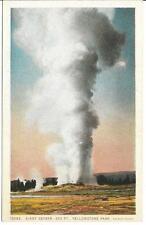 Postcard - Giant Geyser - Yellowstone. Unposted. J E Haynes