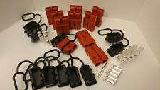 10 Charger Plugs+Contacts, #0Awg, Anderson, Sb175A-600V, Forklifts, Boats, 4X4