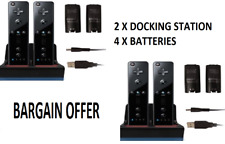 2 CHARGER DOCKING STATION + 4x RECHARGEABLE BATTERY PACK FOR WII REMOTE UKSELLER