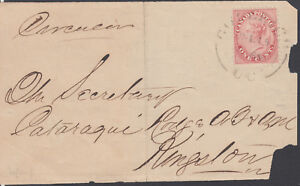 Canada #14b On Cover Perf. 11 3/4x11 3/4 GODERICH U.C. July 15,1860 To Kingston.