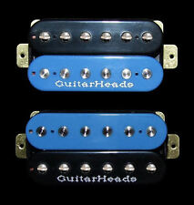 Guitar Parts GUITARHEADS PICKUPS ZBUCKER HUMBUCKER - SET 2 - BLACK & BLUE ZEBRA