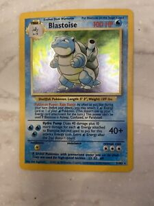 BLASTOISE - Base Set - 2/102 - Unlimited Edition - HOLO Rare - Pokémon Card