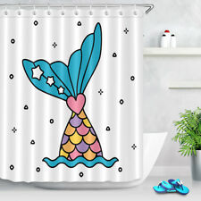 "Cartoon Mermaid Dive Sea Shower Curtain Bathroom Decor Waterproof Fabric 72x72"""