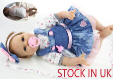 "22"" Bambole Reborn Lifelike Silicone Vinyl Reborn Baby Dolls Baby Xmas Gift  !"