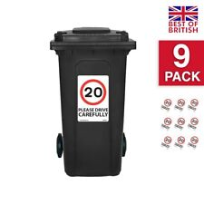 20 Mph Speed Signs [9 X Pack] - A4 Vinyl Stickers, White Background Ideal For...