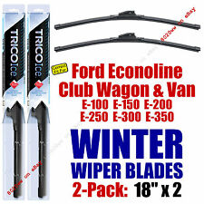 WINTER Wipers 2-Pack Premium Grade fit 1982-1991 Ford E-Series Econoline 35180x2