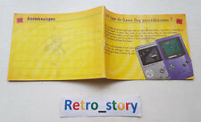 Nintendo Game Boy Color Earthworm Jim 2 Menace The Galaxy Notice / Instruction