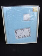 """NIB Boy's Blue Baby Passé Partout Photo Album Book 13"""" x 11 1/2"""""""