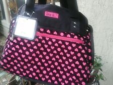 Diaper Bag Love Is Baby Girl Black Pink Heart Tote Shoulder Style