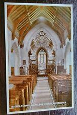 ST MARY MAGDALENE INTERIOR CHURCH SANDRINGHAM POSTCARD