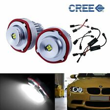 BMW E60 E61 LCI Angel Eyes 40W LED Headlight White Halo Ring Marker Light Lamp