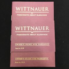 Guide and Warranty Book No.551W Wittnauer Original Watch Manuals Booklet Owner's