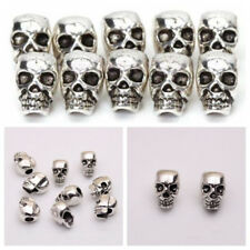Metal DIY Charms Skull Head Antique Silver Spacer Beads Jewelry Making