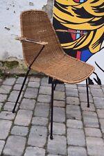 Rattan-Stuhl Korbstuhl/wicker chair Armlehne Drahtstuhl 50s Gian Franco Legler