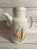 Vintage Coffee Pot BARRATTS Of STAFFORDSHIRE Pottery. Barleycorn. Retro. 8 Inch