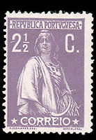 Portugal #212 MHR CV$9.50 (Chalky Paper) Ceres
