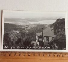 Photo Postcard Hobart From Mountain Lodge Tas AB Series No 607 Australia