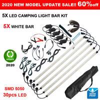 5X LED Camping Lights Kit White/Orange 12V Strip Bar Rigid Caravan Cabinet 4WD