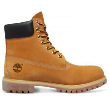 Timberland 6 Inches Premium Men Ankle BOOTS Yellow Wheat Nubuck 9.5 UK 44 EU
