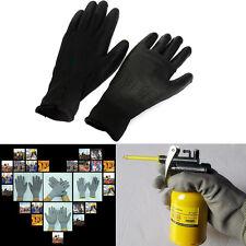 1 Paar Schwarz PU Montagehandschuhe Arbeitshandschuhe Mechanikerhandschuhe;