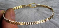 Bracelet in 14kt Rolled Gold and Sterling Silver   Wire Wrapped SIZE 6 TO 8