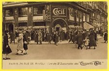 cpa PARIS Commerce 74 Rue de RIVOLI Magasin Succursales des CHAUSSURES CECIL