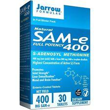 Natural SAM-e (SAMe) 400, 400 mg, 30 Enteric-Coated Tablets - Jarrow Formulas