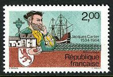 France 1923, MNH.Jacques Cartier,explorer,450th ann.Landing in Quebec,Ship,1984