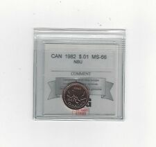 **1982**, Coin Mart Graded Canadian, Small One Cent, **MS-66 NBU**
